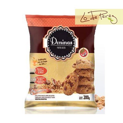 Galletitas sin TACC dulces con frutos secos