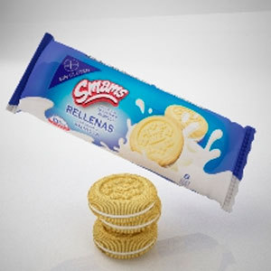 Galletitas Rellenas de Vainilla x 110 gs Smams