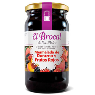 Mermelada Durazno y Frutos Rojos x 420 gs El Brocal