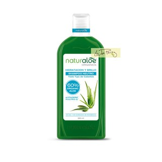 Shampoo Neutro Hidratación y Brillo x 360 ml Naturaloe