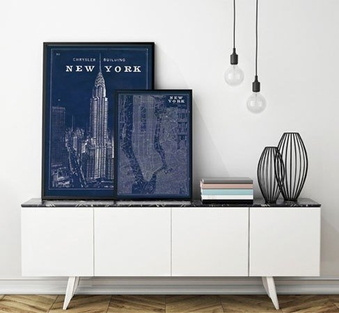 Blueprint map new york chrysler building blueprint map new york chrysler building malvernweather Image collections