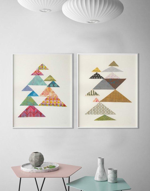 Triángulos abstractos modernos - Cuadros enmarcados