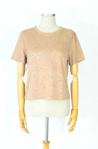 Blusa Cropped Caramelo