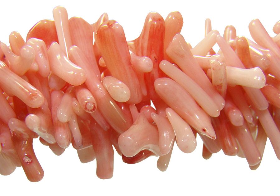 Coral galho rosa natural