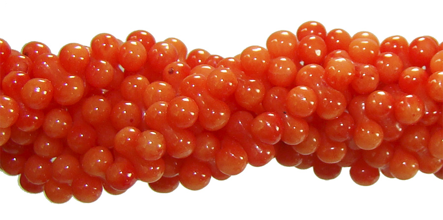 fio de coral laranja gominho