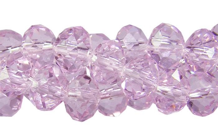 Cristal de vidro rosa 8mm