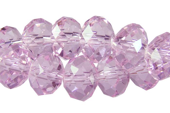 Cristal de vidro facetado rosa