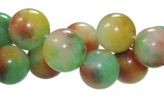 Fio de jade mesclado 14mm