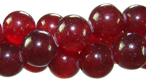 Fio de jade cereja com esfera de 12mm