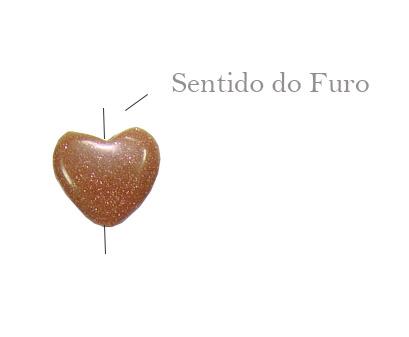 pedra do sol formato coração