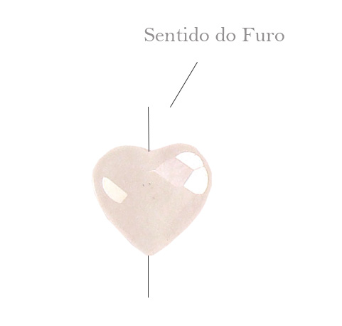 Quartzo Rosa formato Coraçaõ
