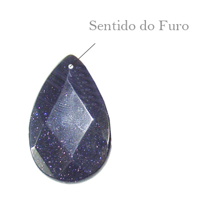 pedra estrela formato gota facetada