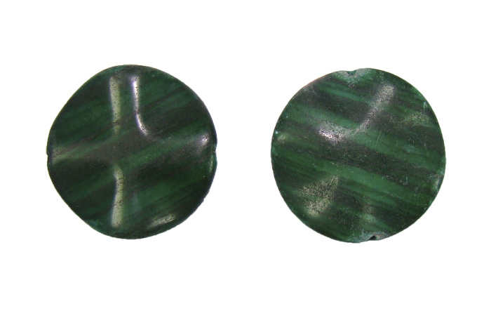 Malaquita oval ondulada