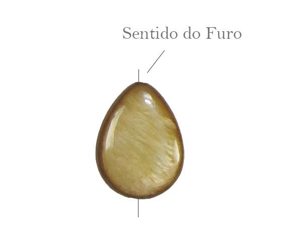 Madrepérola Bronze Formato Gota