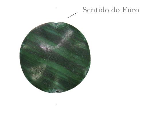 oval ondulado de malaquita