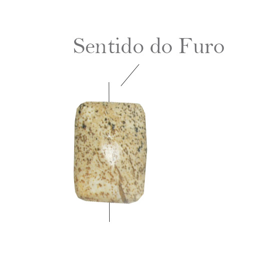 Jaspe Madeira Facetado retangular