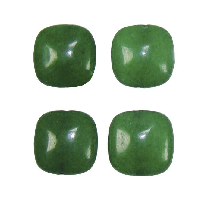 Quadrado de jade Esmeralda 14mm