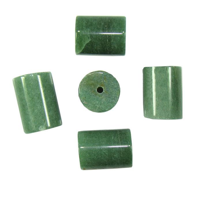 Quartzo Verde Formato Rolete para Montagem
