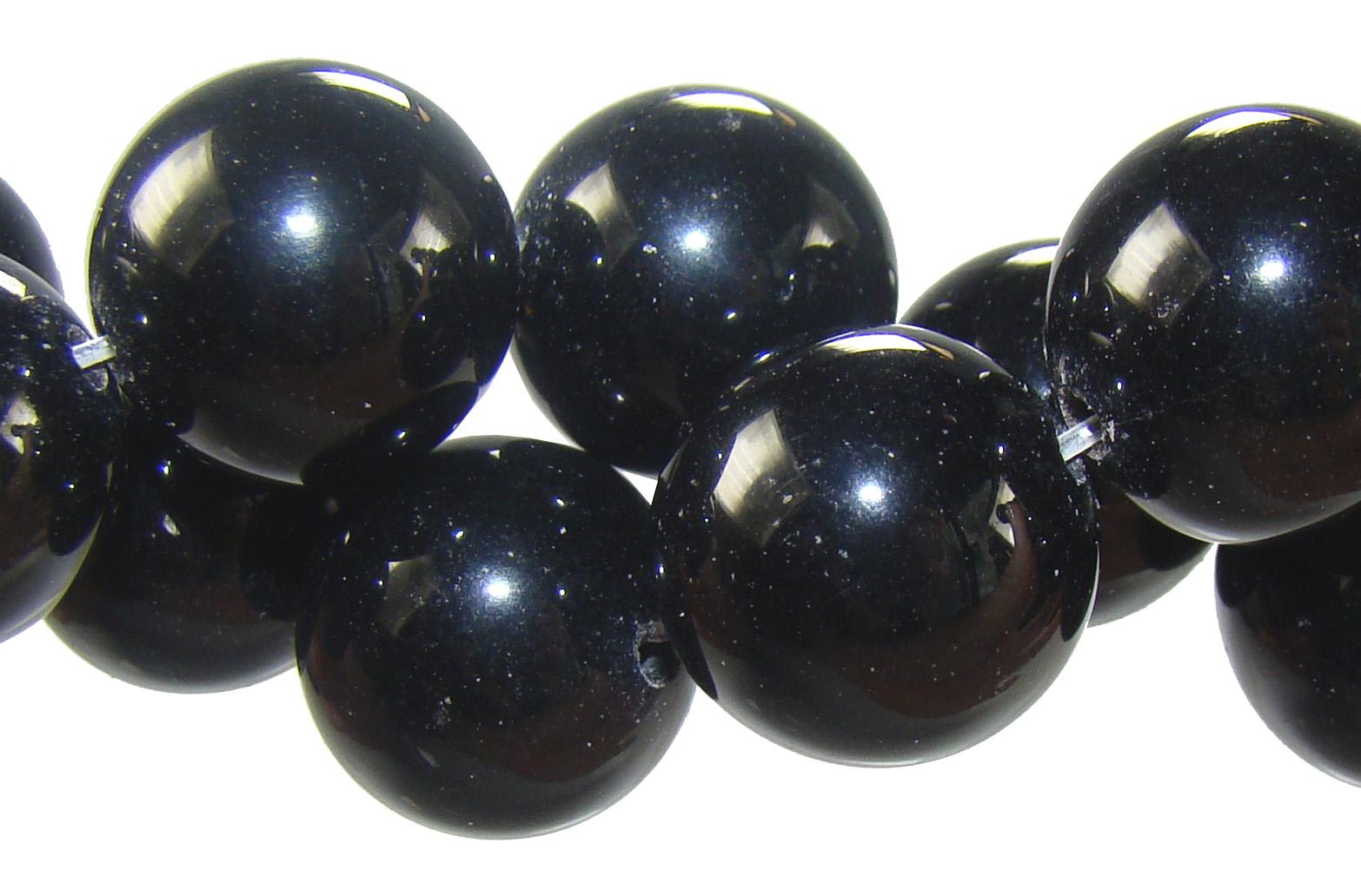 Fio de agata preta 12mm