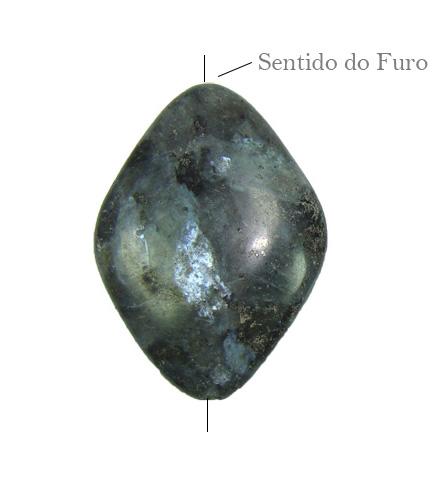 Pedra labradorita cinza