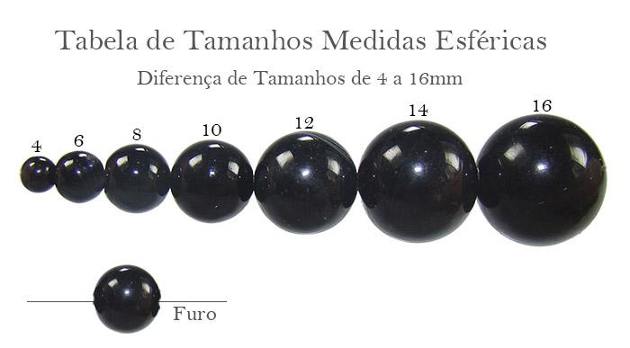 Tabela medidas esféricas