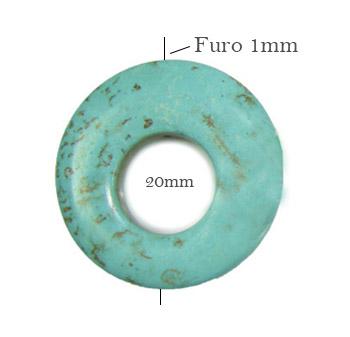 Turquesa azul vazada