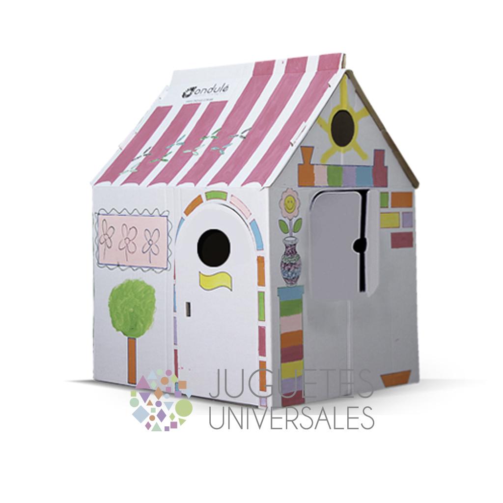 Casa de cart n grande juguetes universales juguetes - Casa de manualidades ...