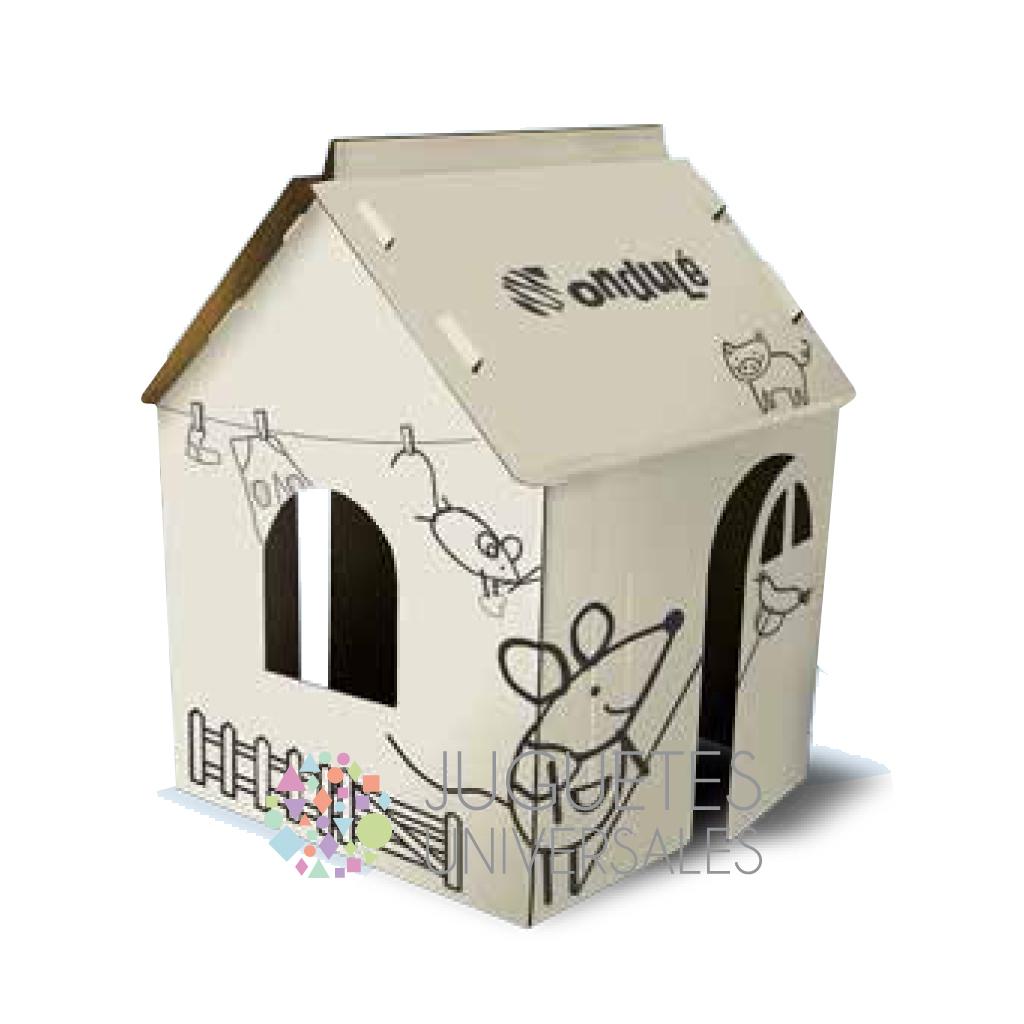 Casa de cart n mini comprar en juguetes universales - Casas para ninos de carton ...