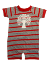 Tree Red Gray Overall