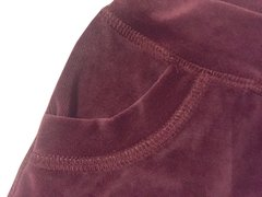 Burgundy Plush Shorts on internet