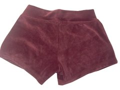 Burgundy Plush Shorts - buy online