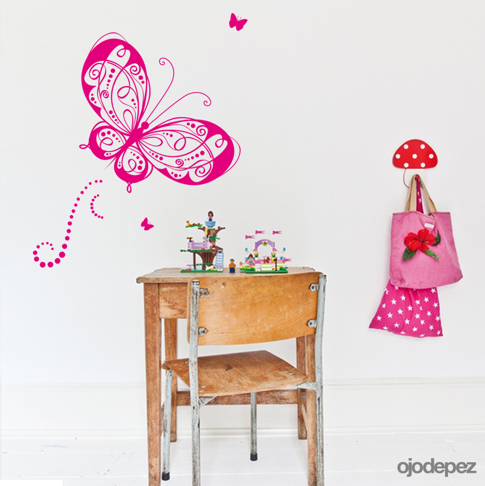 Home 019 mariposa ojodepez vinilos decorativos for Vinilos mariposas