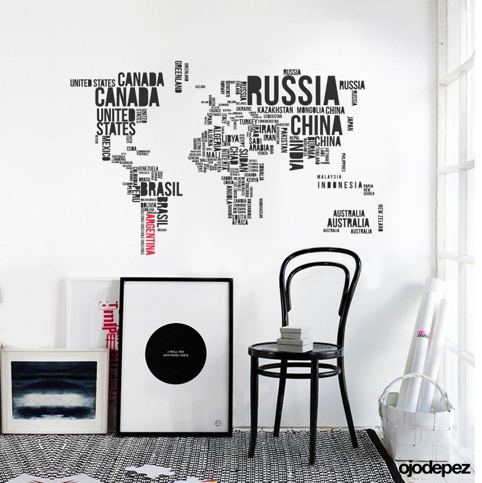 Home 050 planisferio tipogr fico for Vinilos decorativos blancos