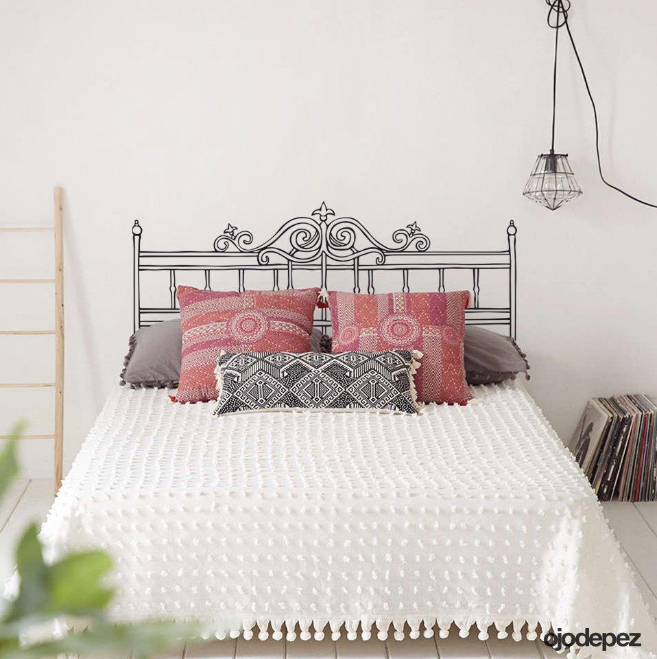 Home 010 respaldar de cama 2 plazas for Vinilos decorativos df