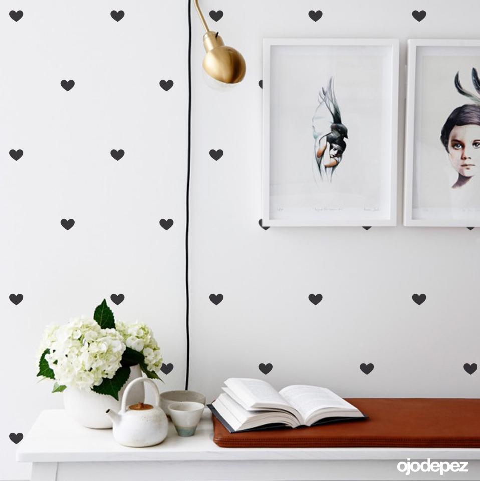 Pack 019 trama de corazones for Vinilos decorativos blancos