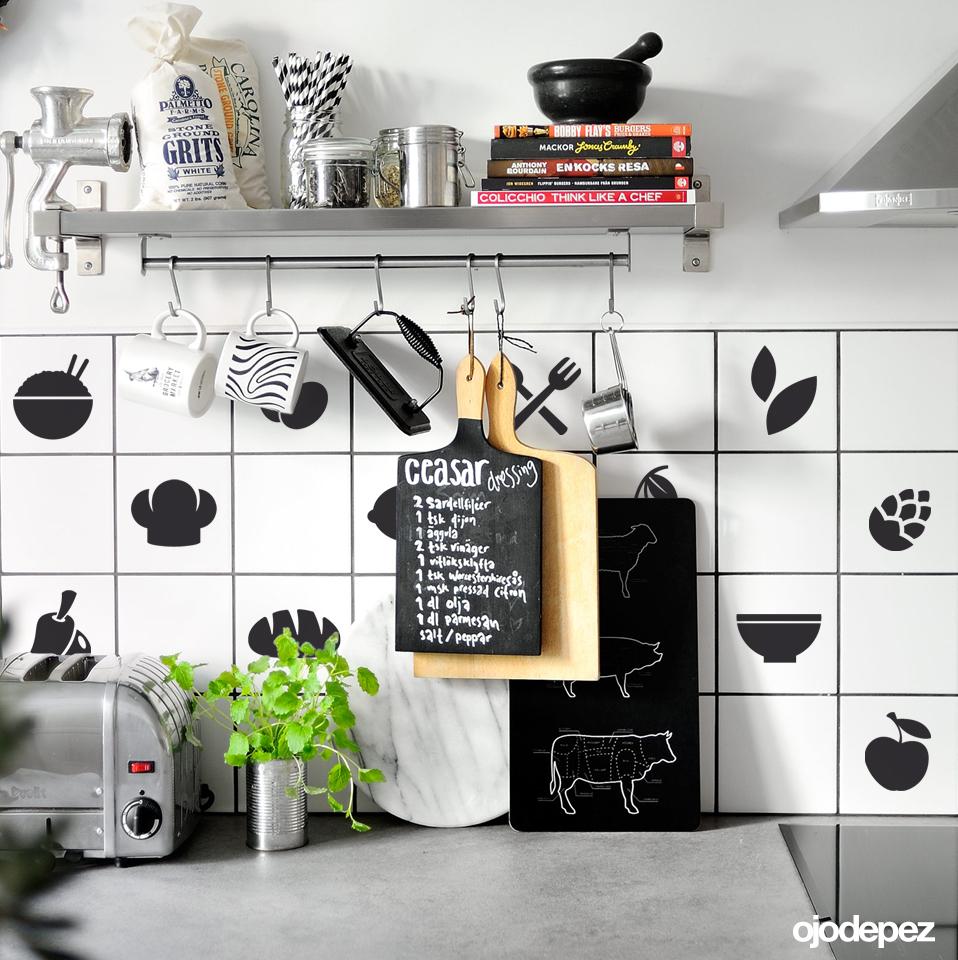 Pack 048 azulejos para la cocina - Vinilos para azulejos de cocina ...