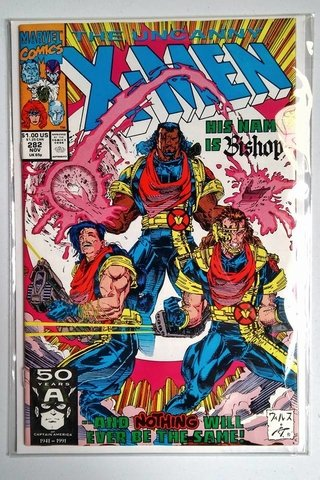 Comic Uncanny X-men #282 PRIMERA APARICIÓN DE BISHOP