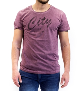 Remera City Bordeau