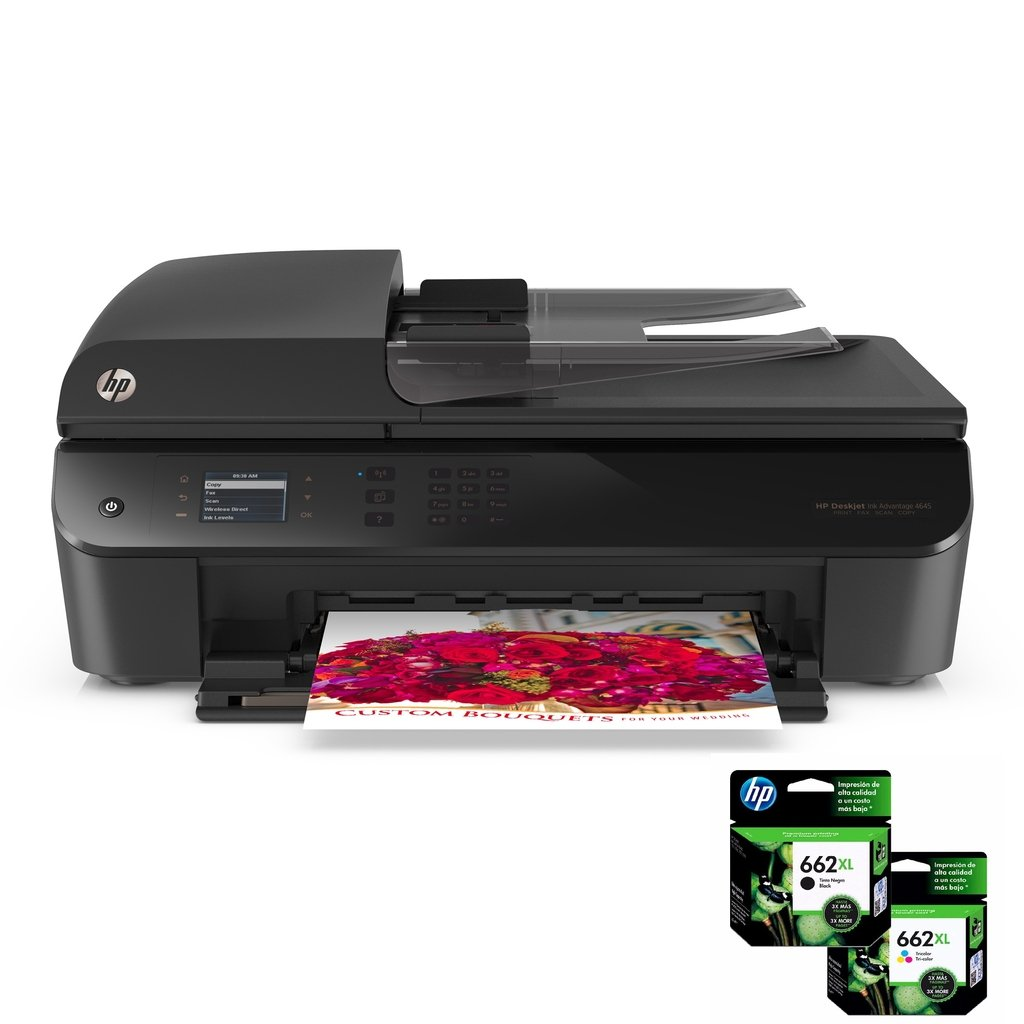 Impresora Hp 4645 Multifunci 243 N Pack Cartuchos Hp 662xl Negro Amp Tricolor Daemo Insumos Todo