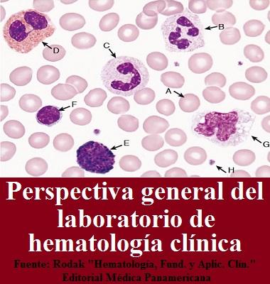 """PERSPECTIVA GENERAL DEL LABORATORIO DE HEMATOLOGÍA CLÍNICA - Fuente: Rodak """"Hematología, Fundamentos y Aplicaciones Clínicas"""""""