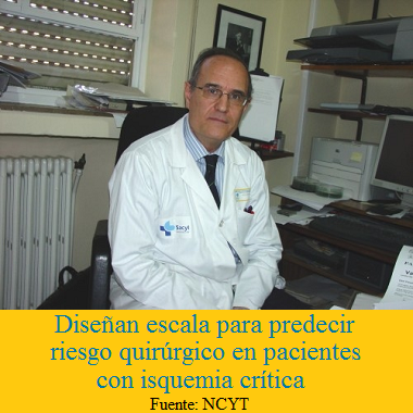 Diseñan una escala para predecir el riesgo quirúrgico en pacientes que sufren isquemia crítica