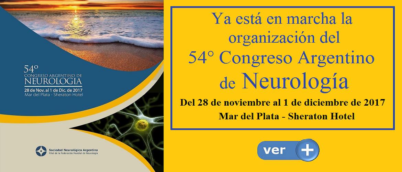 54° Congreso Argentino de Neurología - 2017 - Mar del Plata