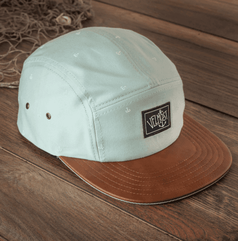 Blackbeard 6 panel hat -blue