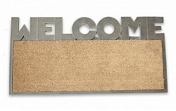 Felpudo entrada casa coco y goma welcome - Felpudo entrada casa ...