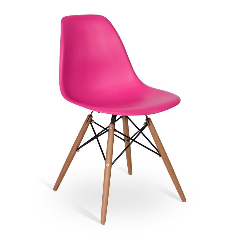 silla eames dsw fucsia comprar en integral deco. Black Bedroom Furniture Sets. Home Design Ideas