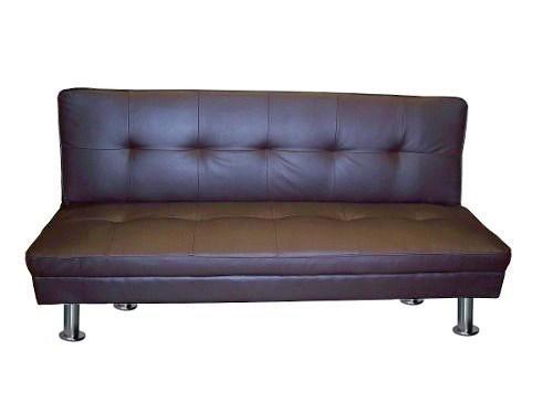 Futon chocolate modelo napa sofa de 3 cuerpos cama de 1 plaza for Futon 1 plaza precio
