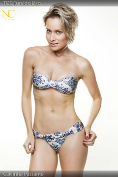 Tomara-que-caia torcido - estampa Azulejo - Top - NC Fit & Beach