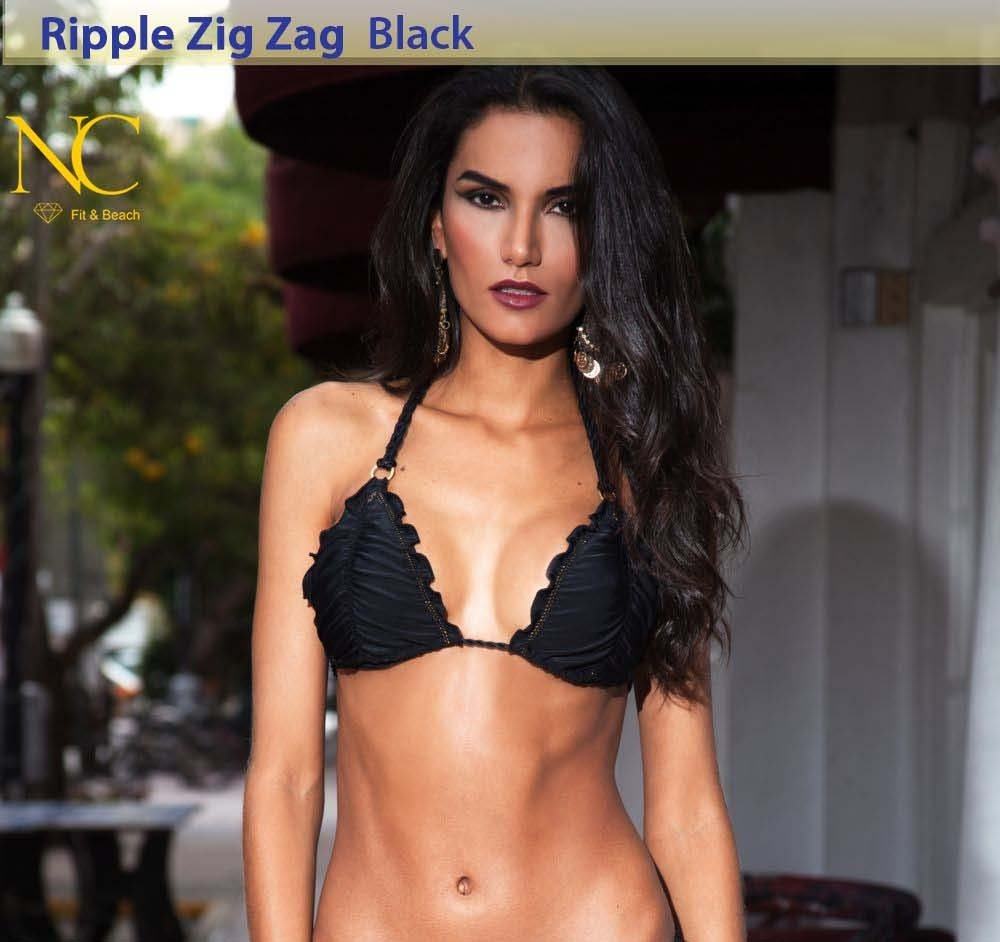 Ripple Zig Zag - Black - Top