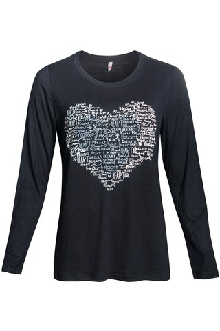 R151/41 Syes, Remera HEART, talles grandes