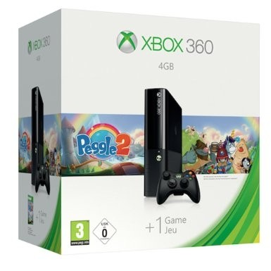 XBOX 360 STINGRAY 4 GB + PEGGLE 2 ORIGINAL